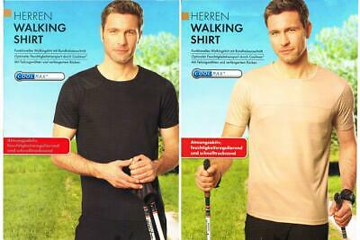 Herren Walking Shirt Funktions Sport Fitness  T-Shirt Kurzarm COOLMAX® M L XL