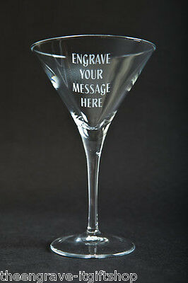 Personalised Cocktail/Martini Glass - Engraved gift - Gift Boxed