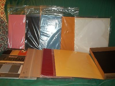 HUGE LOT of 12x12 and 8.5x11 Scrapbook Cardstock All Colors