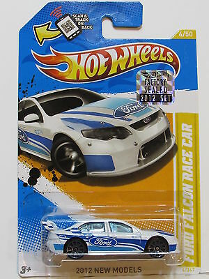 HOT WHEELS 2012 NEW MODEL FORD FALCON RACE CAR FACTORY SEALED