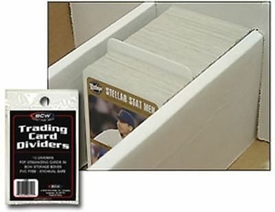 80 BCW TRADING CARD DIVIDERS Fits in Storage Boxes 8 Packs Free Shipping
