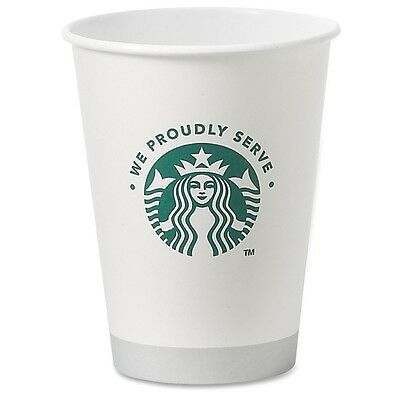 Starbucks 12oz Hot Cups - 12 oz - 1000 / Carton - White - Paper - Coffee,...