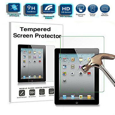 100% Genuine Tempered Glass LCD Touch Screen Protector Guard For iPad 2 3 4 UK