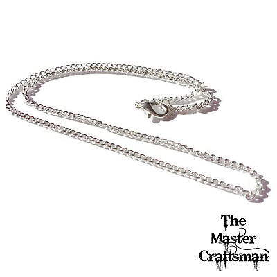"""1-20 pcs 14""""-40"""" STERLING SILVER PLATED CURB CHAINS NECKLACES WHOLESALE FINDING"""