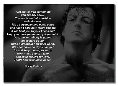 Rocky Balboa 11  Sylvester Stallone Boxer Rocky Film Motivation Quote Poster