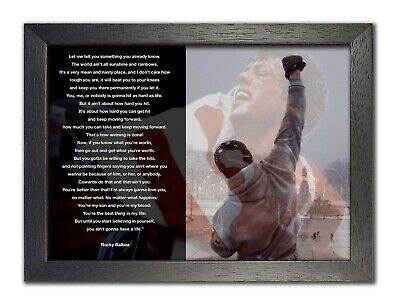 Rocky Balboa 20 Sylvester Stallone Boxer Rocky Film Motivation Quote Poster
