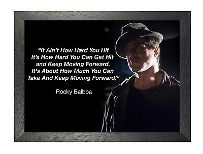 Rocky Balboa 22  Sylvester Stallone Boxer Rocky Film Motivation Quote Poster