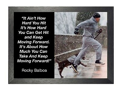 Rocky Balboa 23 Sylvester Stallone Boxer Rocky Film Motivation Quote Poster