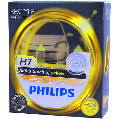 H7 PHILIPS ColorVision GELB - Styling Scheinwerfer Lampe - DUO-Box NEU