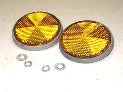 78-80 Yamaha XS650 XS 650 Special Left Right Front Reflectors 355-85111-01