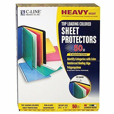 C-Line Top Loading Polypropylene Sheet Protectors  8.5 x 11 Inches  50 per Box