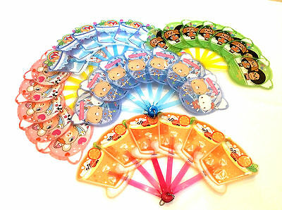 Oriental Hand Fan for Children - Plastic with Colourful Designs/Characters