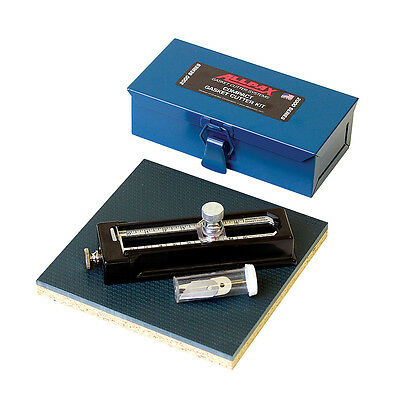 """ALLPAX® Compact Gasket Cutter Kit Cuts 1/4""""ID-6""""OD to 3/4""""Thick USA Metal Case"""