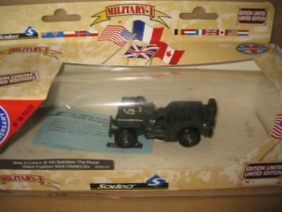 SOLIDO MILITARY JEEP 4th BATTALION ROYAL WELCH  1.43