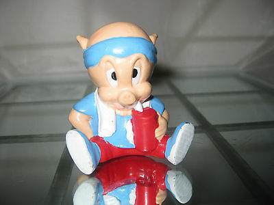 Vintage Looney Tunes Porky Pig Toy Cake Topper Figure