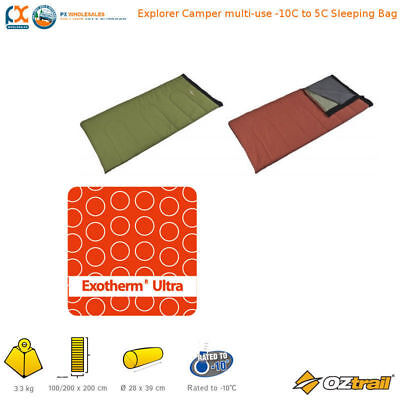 Oztrail Exotherm Ultra Adventure Explorer Camper -10c Camping Sleeping Bag