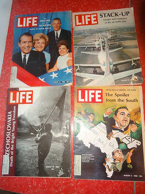 LIFE Magazine August 2, 9, 16, 30 1968;  Nixons; Spoiler from the South; czech