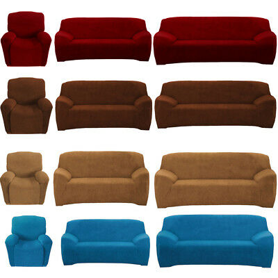 Super Fit Seater Couch Slip Cover Recliner Loveseat Sofa Slipcover Protector UK