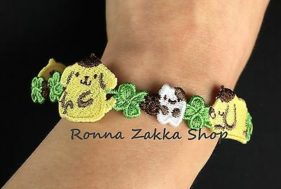 New Japan Licensed Sanrio Original Pompompurin Purin Dog embroidery bracelet
