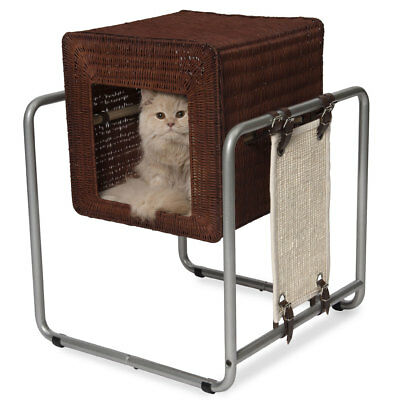 Hagen Vesper Cat Furniture Scratcher Bed V Cube Rattan