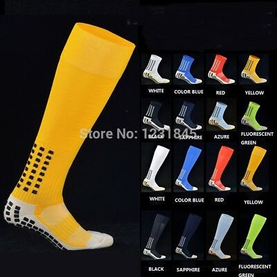 New Soccer Socks Tocksox Anti Slip Mid-calf Cotton Grid style Team Football Sock