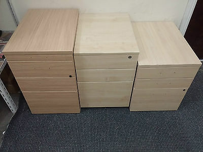 Lockable 3 Drawer Desk Cabinets Three Clearance Stock Office Home Furniture keys