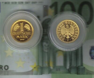 1 DM--Gold--Mark--2001--F--Deutsche Bundesbank--12,0 Gramm--