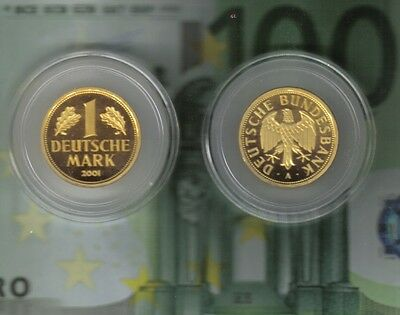 1 DM--Gold--Mark--2001--A--Deutsche Bundesbank--12,0 Gramm--