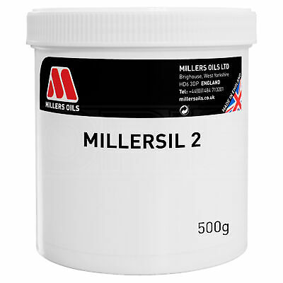 Millers Oils MILLERSIL NO. 2 Silicone High Temperature, Non Melting Grease 500g