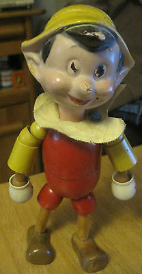 VINTAGE 1930s IDEAL WOODEN & STRUNG JOINTED DISNEY PINOCCHIO TOY DOLL DISNEYANA