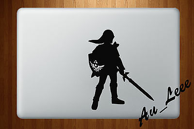 Macbook Air Pro Vinyl Skin Sticker Decal Legend Of Zelda Game Link Shield M545