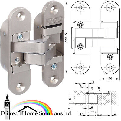 SOSS Concealed Mortice 3D Hinges - INVISIBLE & FULLY AJUSTABLE  ( X 1)