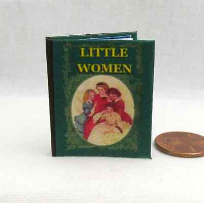 LITTLE WOMEN 1:6 Scale Readable Illustrated Book Dollhouse Miniatures Book