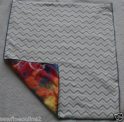Gray White Chevron Waterproof Soft Flannel Baby Changing Pad