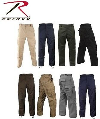 Rothco 6-Pocket Military Tactical Poly/Cotton BDUs Cargo Fatigue BDU Pants