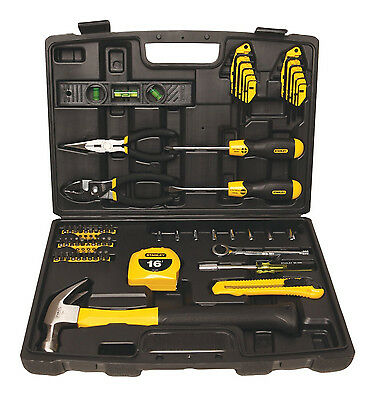 Mixed Hand Tools 65 pcs  Household Repair UtilityTool Kit w/ Case Portable NEW