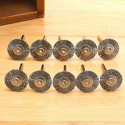 10Pcs Stainless Steel Wire Wheels Brushes for Die Grinder Power Rotary Tools