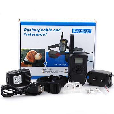 Rechargeable Waterproof LCD Remote Shock Dog Training Collar Electric Trainer