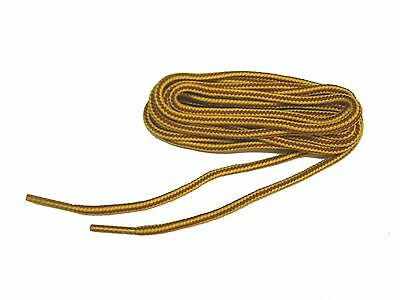 2 pair lot Heavy Duty bootlaces shoelaces Gold-Tan Round braided boot laces -NEW