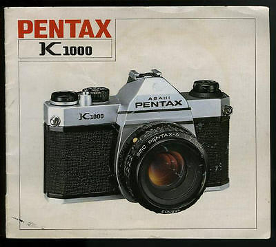 Asahi Pentax -- K1000 -- Instruction Manual... K-1000