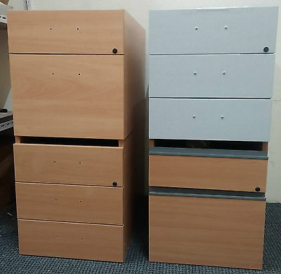 Attachable 2-3 Drawer Desk link Cabinets For Office, Home Storage Filing Files