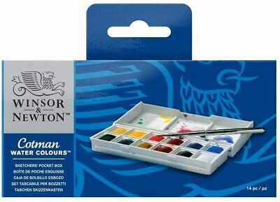Winsor and Newton Cotman acuarela Set Dibujantes BOLSILLO Box 12