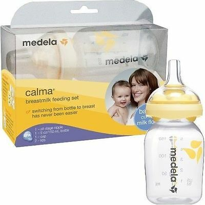 Medela Calma Breast-milk Breastfeeding Feeding Set 68021 5 Ounce oz Bottle NEW