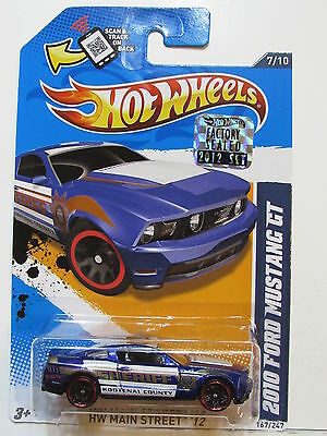 HOT WHEELS 2012 HW MAIN STREET 2010 FORD MUSTANG GT FACTORY SEALED