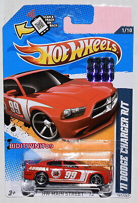 HOT WHEELS 2012 HW MAIN STREET 11 DODGE CHARGER R/T RED FACTORY SEALED