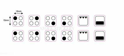DOUBLE SET of 4 RING STOVE STICKERS DECALS SYMBOLS for HOB COOKER-TOP & OVEN