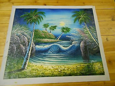 Ocean Sunset Painting On Canvas