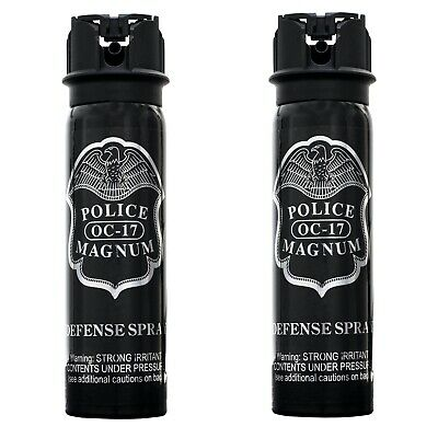 2 PACK Police Magnum pepper spray 4oz Flip Top Fog Defense Security Protection
