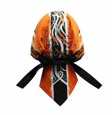 Black Orange Red Forever Flame Headwrap Bandanna Durag Sweatband Free Shipping