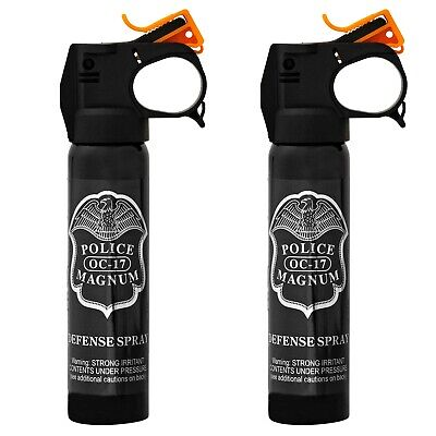 2 PACK POLICE MAGNUM pepper spray 5oz Fire Master Fog Home Auto Office Security